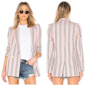 Free People oversized blazer M pink striped (R1)